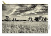 Nebraska Prairie One In Black And White Carry-all Pouch