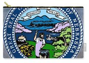 Nebraska State Seal Carry-all Pouch