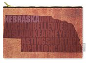 Nebraska Word Art State Map On Canvas Carry-all Pouch