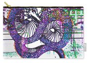 Neon Dragon In High Contrast Carry-all Pouch