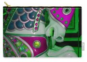 Neon Green Carousel Horse Carry-all Pouch