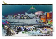 Neon Lights Of Spokane Falls Carry-all Pouch by Carol Groenen