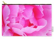 Neon Pink Peony Carry-all Pouch