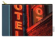 Neon Sign For Hotel In Texas Carry-all Pouch