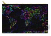 Neon World Map Carry-all Pouch