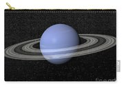 Neptune And Its Rings Against A Starry Carry-all Pouch by Elena Duvernay
