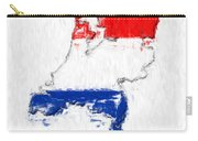 Netherlands Painted Flag Map Carry-all Pouch