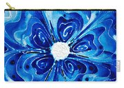 New Blue Glory Flower Art - Buy Prints Carry-all Pouch