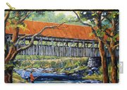 New England Covered Bridge By Prankearts Carry-all Pouch by Richard T Pranke
