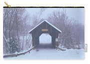 New England Covered Bridge In Winter Carry-all Pouch