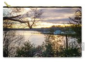 New England Winter Sunset Carry-all Pouch