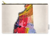 New Hampshire Map Art - Painted Map Of New Hampshire Carry-all Pouch