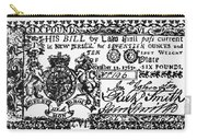 New Jersey Banknote, 1763 Carry-all Pouch