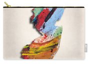 New Jersey Map Art - Painted Map Of New Jersey Carry-all Pouch