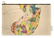 New Jersey Map Vintage Watercolor Carry-all Pouch