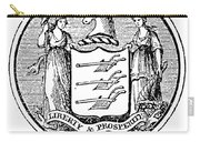 New Jersey State Seal Carry-all Pouch