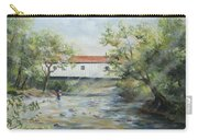 New Jersey's Last Covered Bridge Carry-all Pouch by Katalin Luczay