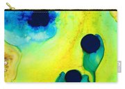 New Life - Green And Blue Art By Sharon Cummings Carry-all Pouch by Sharon Cummings