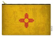 New Mexico State Flag Art On Worn Canvas Carry-all Pouch
