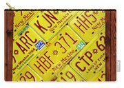 New Mexico State License Plate Map Carry-all Pouch