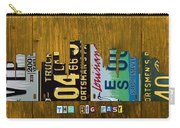 New Orleans Louisiana City Skyline Vintage License Plate Art On Wood Carry-all Pouch by Design Turnpike