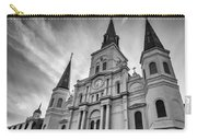 New Orleans St Louis Cathedral Bw Carry-all Pouch