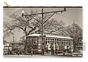 New Orleans Streetcar Sepia Carry-all Pouch
