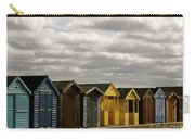 Colourful Wooden English Seaside Beach Huts Carry-all Pouch