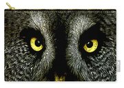 New Photographic Art Print For Sale   Great Grey Owl Carry-all Pouch