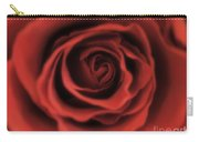 Close Up Heart Of A Red Rose Carry-all Pouch