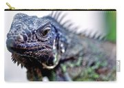 Close Up Beady Eyed Iguana Carry-all Pouch