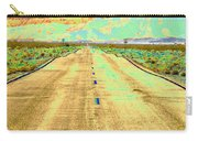 New Photographic Art Print For Sale Long Road To The Valley Of Fire Carry-all Pouch