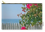 New Photographic Art Print For Sale On The Fence Montecito Bougainvillea Overlooking The Pacific Carry-all Pouch