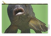 New Photographic Art Print For Sale   Open Mouthed Fish In Green Water Carry-all Pouch