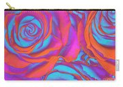 Pop Art Pink Neon Roses Carry-all Pouch