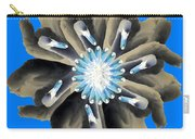 New Photographic Art Print For Sale Pop Art Swan Flower On Blue Carry-all Pouch