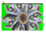 New Photographic Art Print For Sale Pop Art Swan Flower On Green Carry-all Pouch