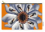 New Photographic Art Print For Sale Pop Art Swan Flower On Orange Carry-all Pouch