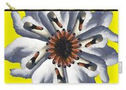 New Photographic Art Print For Sale Pop Art Swan Flower On Yellow Carry-all Pouch