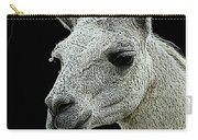 New Photographic Art Print For Sale   Portrait Of  Llama Against Black Carry-all Pouch