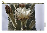 New Photographic Art Print For Sale White Cactus Flower Carry-all Pouch