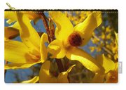 New Season - Old Friend  ... Forsythia In Springtime Carry-all Pouch