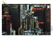 New York At Night - Skyscrapers And Office Windows Carry-all Pouch