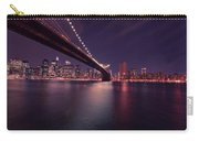 New York Brooklyn Bridge At Night Carry-all Pouch