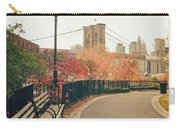 New York City - Autumn - Brooklyn Bridge And Foliage Carry-all Pouch