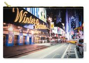 New York City - Broadway Lights And Times Square Carry-all Pouch