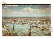 New York City - Brooklyn Bridge And Manhattan Bridge From Above Carry-all Pouch