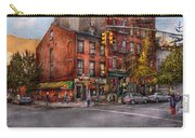 New York - City - Corner Of One Way And This Way Carry-all Pouch by Mike Savad