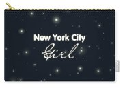 New York City Girl Carry-all Pouch by Pati Photography