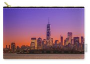 New York City Manhattan Midtown Panorama At Dusk With Skyscraper Carry-all Pouch